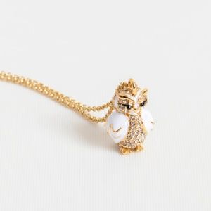 kate spade star bright owl super cute necklace